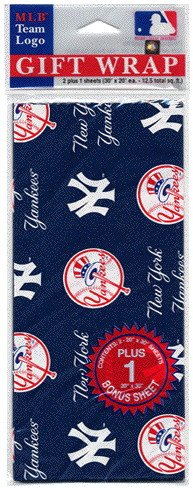New York Yankees Wrapping Paper (Flat w/ Bonus Sheet) at Amazon.com