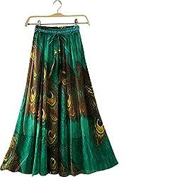 bridal collection Green mor pankh Digital Printed Crepe Silk Skirt