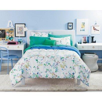 Xhilaration Reversible Bubble Dot 8 Pc Bed Set Full front-535777