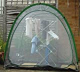 Clear Laundry Dome - allows laundry to be dried quickly and conveniently even in the rain!