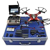 Potensic® Premium 5.8 GHz JJRC H8D RTF RC Quadcopter with 2 Megapixels Camera FPV Monitor LCD, Headless Mode, Return Home Function with Carrying Case