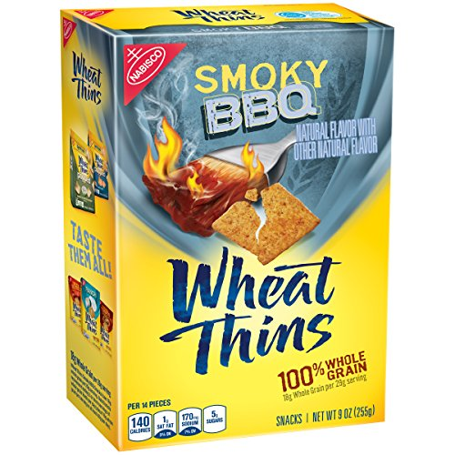 Wheat Thins Smoky BBQ Snacks, 9 Ounce (Bbq Wheat Thins compare prices)
