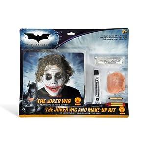 Batman Joker Set Perücke Make Up Narben