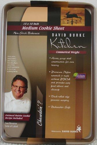 David Burke Kitchen Commercial Weight Non-Stick Medium Cookie Sheet 15 x 10
