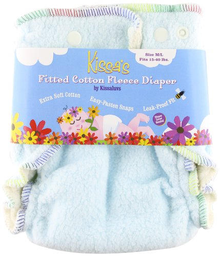 Kissa's Cotton Fleece Fitted Diaper - 1