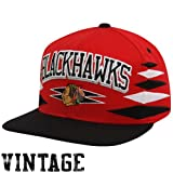 Mitchell & Ness Chicago Blackhawks Red-Black Retro Diamond Snapback Adjustable Hat