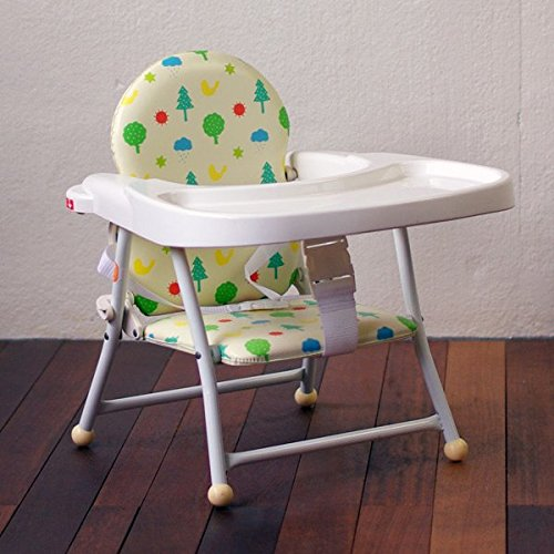 BabyGo! 折りたたみパイプローチェア ワイドテーブル付 ノルディックガーデン