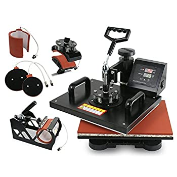 Super Deal Pro 5 in 1 Multifunction Combo Heat Press Machine, 12
