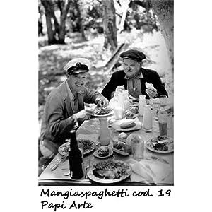 Mangiaspaghetti cod 19 Stanlio e Olio Poster 35x50 Stampe Papi Arte Vendita Online Quadri Cinema Film Italiano   Valutazioni Valutazione