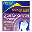 Efamol Brain Concentrate Berry Burst Flavour Chewies - Pack of 30 Capsules