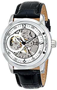 Stuhrling Original Men's 837.01 Classic Delphi Saros Analog Display Automatic Self Wind Black Watch
