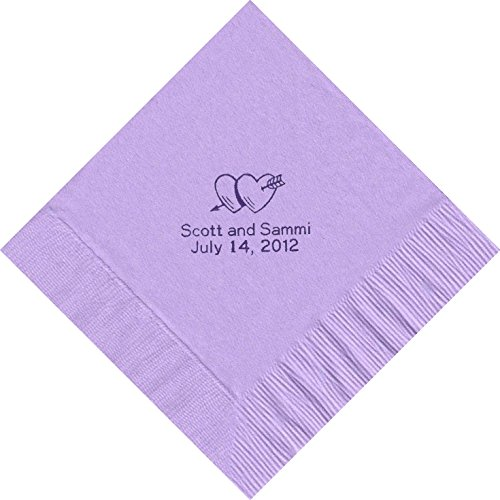 100 Printed Personalized Luncheon Dinner Party Napkins