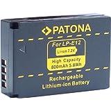 Bundlestar * Akku für Canon LP-E12 zu Canon EOS M und Canon EOS 100D mit Infochip (neueste Generation 100% kompatibel!)