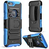 iPhone 6 Case, i-Blason **Dual Layer** [Kickstand] Apple iPhone 6 Case (4.7-inch) Prime Series Holster Cover with Kickstand and Locking Belt Swivel Clip for iPhone 6 (Blue)