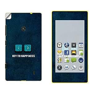 Skintice Designer Mobile Skin Sticker for Nokia Lumia 520, Design - key to happiness
