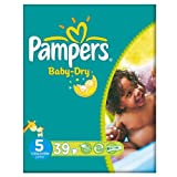 Pampers Baby Dry Size 5 (11-25kg) Essential Pack Junior 3x39 per pack