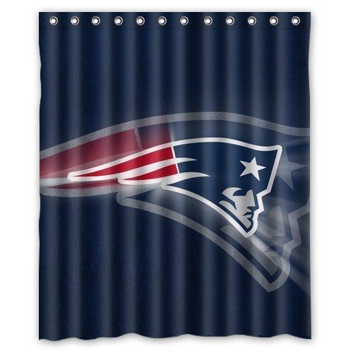 High Quality Custom New England Patriots Tom Brady Design Waterproof Fabric Bathroom Shower Curtain 60