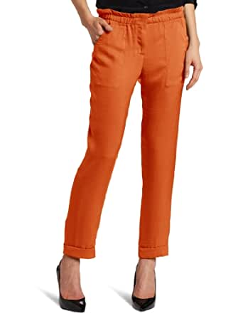 BCBGMAXAZRIA Women's Bennet Cropped Carrot Pant, Vermillion, X-Small