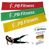 Set of 3 Resistance Bands + FREE User Guide - Strengthen/Tone Shoulders, Arms, Hips and Legs Without Adding Bulk - Perfect For General Fitness Training, Workouts At Home, As Part Of Pilates or Yoga Class, Or A Rehabilitation Program After Injury
