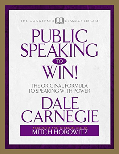 public-speaking-to-win-the-original-formula-to-speaking-with-power-abridged-english-edition