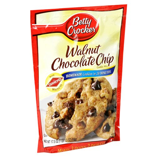 Buy Betty Crocker Cookie Mix, Walnut Chocolate Chip, 17.5-Ounce Pouches (Pack of 12) (Betty Crocker, Health & Personal Care, Products, Food & Snacks, Baking Supplies, Baking Mixes, Cookie Mixes)