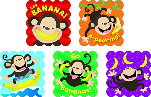 Creative Teaching Press Monkeys Scratch 'n Sniff Stickers, Bananas (4595) - 1