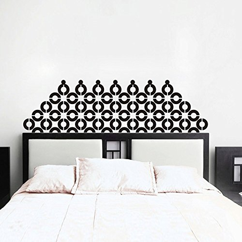 Headboard Wall Decal Links Vinyl Bed Wall Sticker Home Decor (Custom, King)