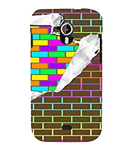 PrintVisa Ripped Brick Art Pattern 3D Hard Polycarbonate Designer Back Case Cover for Micromax Canvas HD A116