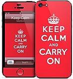 GelaSkins iPh5-KeepC GelaSkins for iPhone 5 - 1 Pack - Retail Packaging - Keep Calm