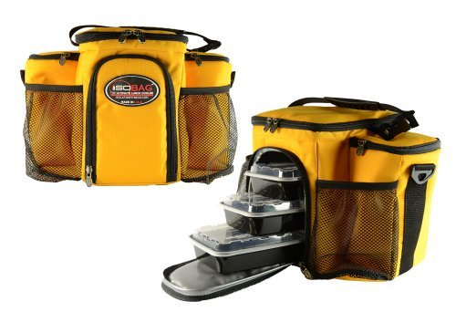 Isobag 3 Meal Management System - Full Gold Limited Edition - Insulated Lunch Box / Insulated Lunch Bag - Isolator Fitness - 1