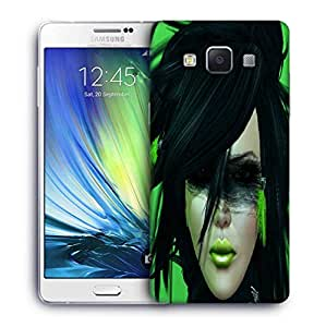 Snoogg Green Feather Girl Designer Protective Phone Back Case Cover For Samsung Galaxy A7