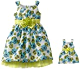 Dollie & Me Girls 2-6X Floral Sleeveless Special Occasion Dress with Doll Garment