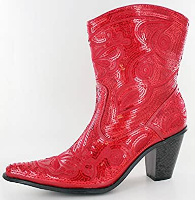 bada089a0d0 Red Sequin Cowgirl Boots Related Keywords   Suggestions - Red Sequin ...