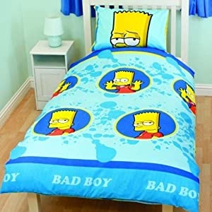 ensemble de literie de fantaisie pour enfants gar ons housse de couette bart simpson lit. Black Bedroom Furniture Sets. Home Design Ideas