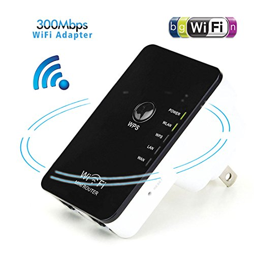 NoyoKere 300Mbps Mini Wireless-N Repeater/Router/AP with WPS Range Extender Signal Booster 802.11n/g/b US Plug (Long Range Wireless Ap compare prices)