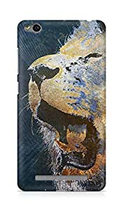 Amez designer printed 3d premium high quality back case cover for Xiaomi Redmi 3S (Lion grunge)