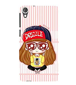 Vizagbeats Drizzle girl Back Case Cover for HTC Desire 820