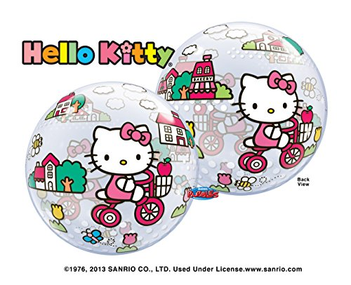 Hello-Kitty-Riding-Bike-Bubble-Balloon-22-Mylar-Foil-Balloon