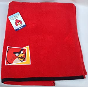 "Rovio 100% Cotton Red Angry Birds Bath Towel (50"" X 28"") at Sears.com"