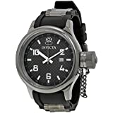 Invicta Men's 0060 Russian Diver Collection Black Dial Black Polyurethane Watch
