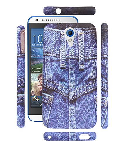 FUSON PREMIUM TRIBAL BLUE DENIM JEANS DESIGNER SILICON BACK CASE COVER FOR HTC DESIRE 620 /620G DUAL - DS36