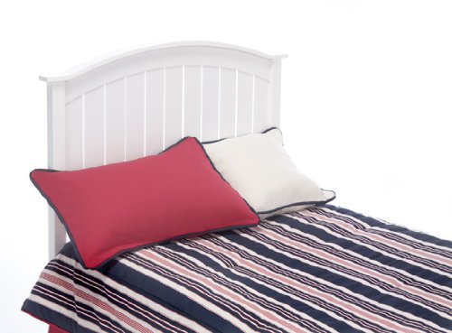 Finley Wooden Headboard Panel with Curved Top Rail Design, White Finish, Full / Queen (Full Headboard White compare prices)