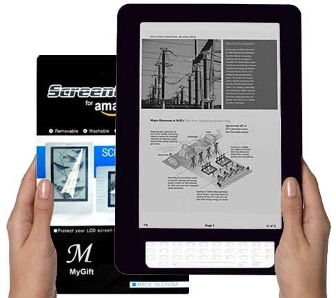 Amazon Kindle DX 9.7 inch E-Book Reader (BLACK) Silicone Skin Rubber Case + L...