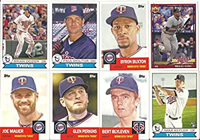 2016 Topps Archives Minnesota Twins Team Set 12 Cards
