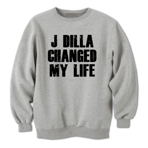 Bang Tidy Clothing Unisex Adults J Dilla Changed My Life Sweatshirt Grey L
