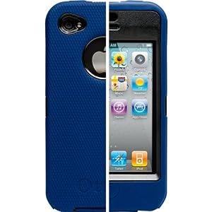 OtterBox Universal Defender Case for iPhone 4 (Zircon Blue Silicone & Black Plastic)