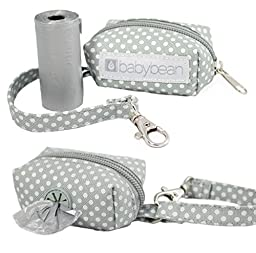 Baby Diaper Bag Dispenser, Includes Roll of Unscented Disposable Refill Bags | Waste Bag Holder for Stroller