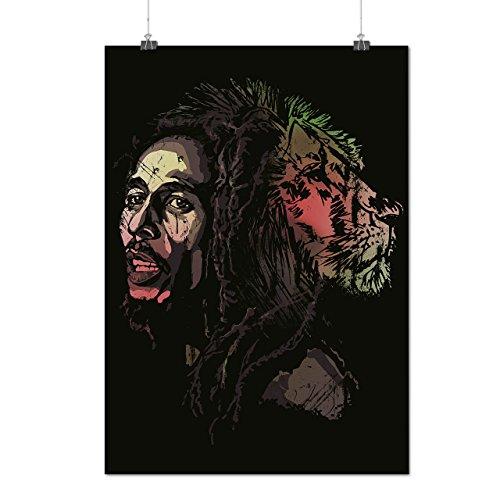 Bob Marley Metà Leone Uno Amore Opaco/Lucida Poster A3 (42cm x 30cm) | Wellcoda