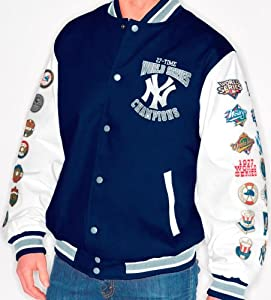 New York Yankees MLB High Post World Series Commemorative Canvas Jacket by G-III Sports