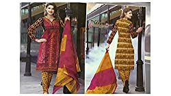 Ample Creations Women's Cotton Unstitched Dress Material (Ample Creations_17_Turqoise_Free Size)